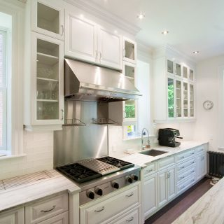 armoires de cuisine blanche en mdf