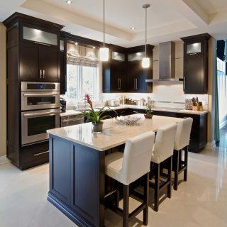 armoires de cuisine en merisier