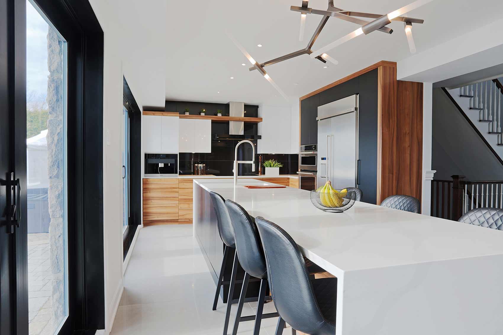 armoires de cuisine modernes