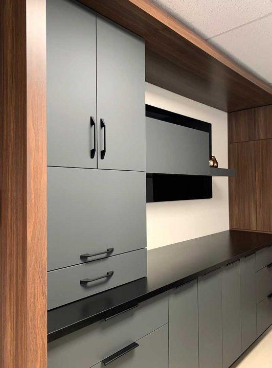 armoires de cuisine - fini mat Velour Touch