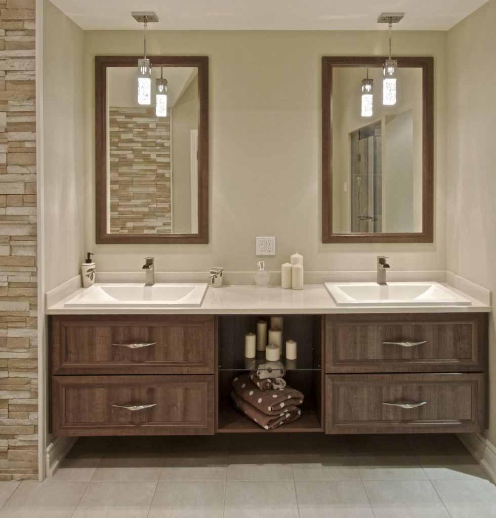 finition d'une salle de bain faite sur mesure