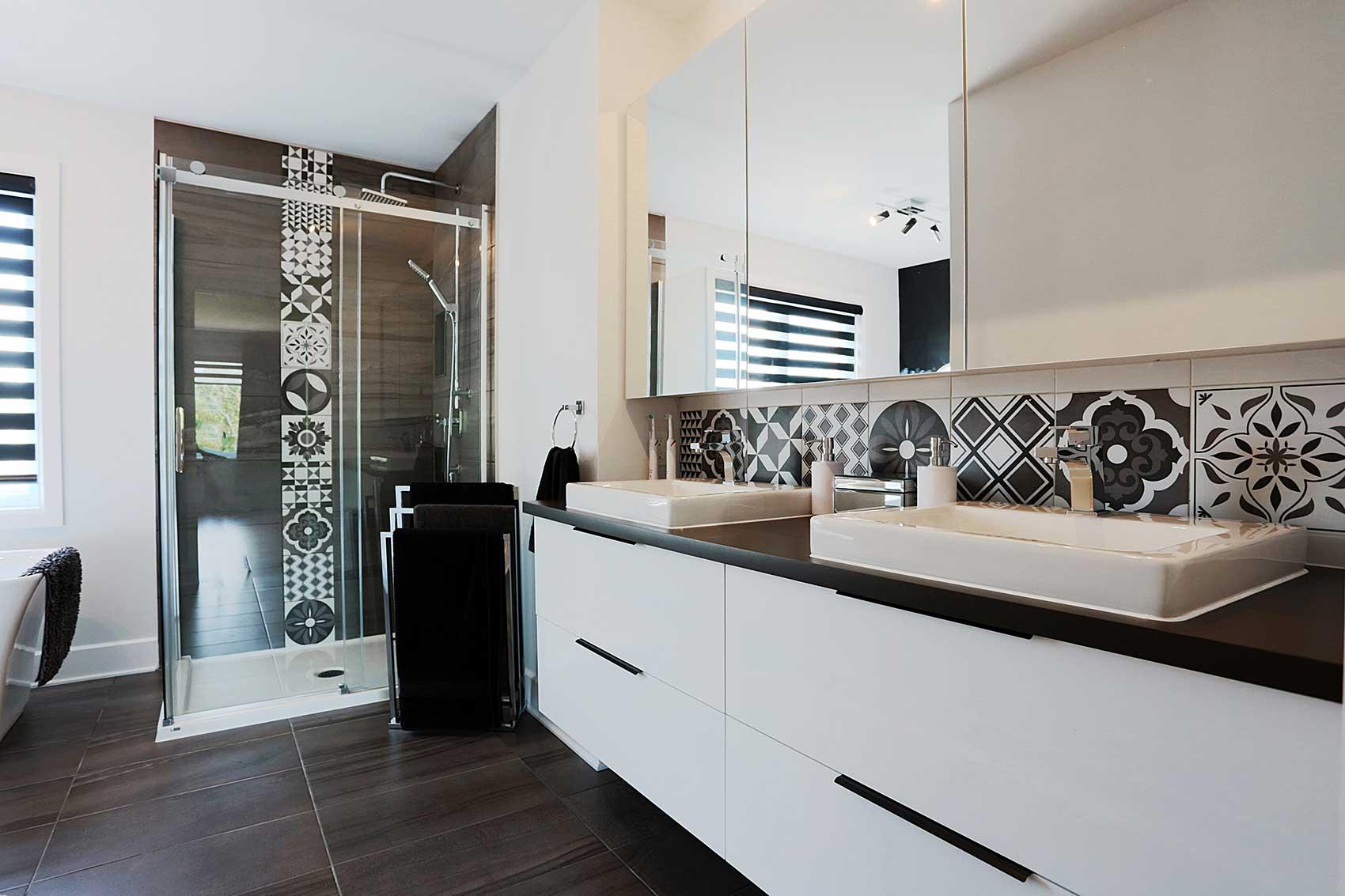 armoires de salle de bain moderne